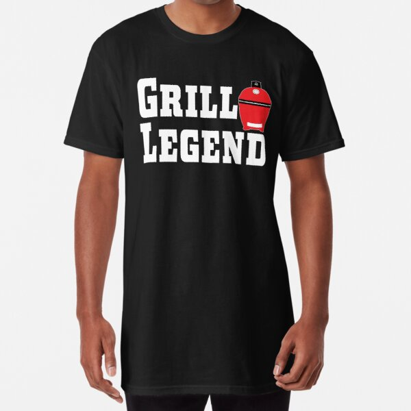 Grill Legend | Kamado Style | BBQ Grill Gift | Pitmaster Gift Long T-Shirt