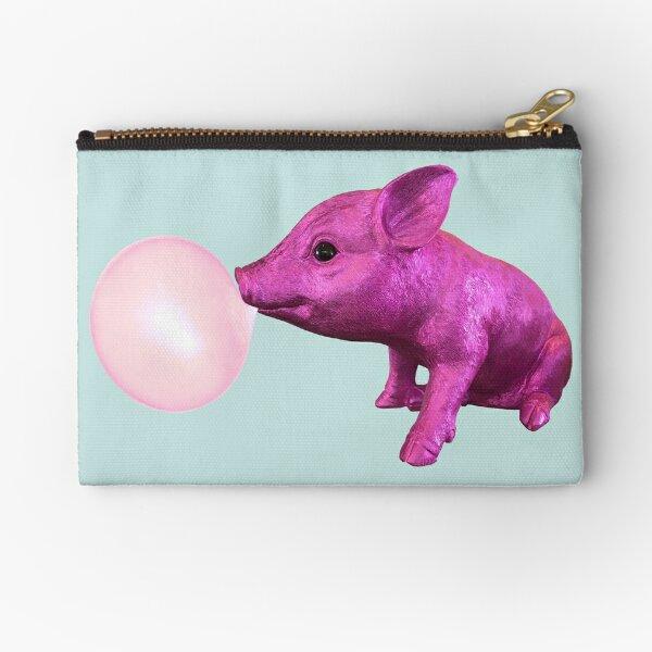 Pink Pig Right Zipper Pouch