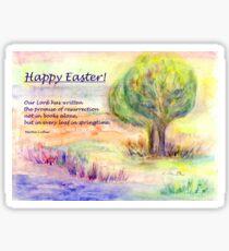 "Easter Greetings  ""Promise of Resurrection"" Sticker"