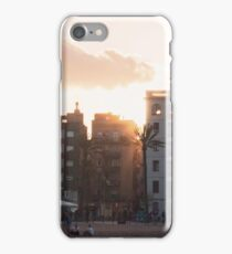 Sunset through the old barrio - Barcelona iPhone Case/Skin