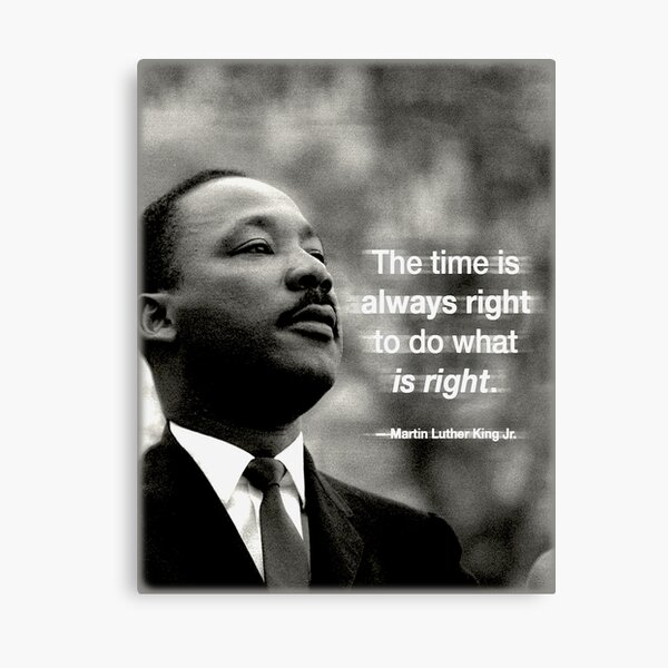 The Time is Always Right Canvas Print