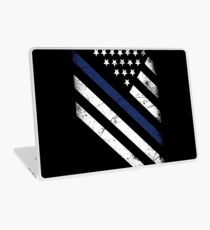 The thin blue line Laptop Skin