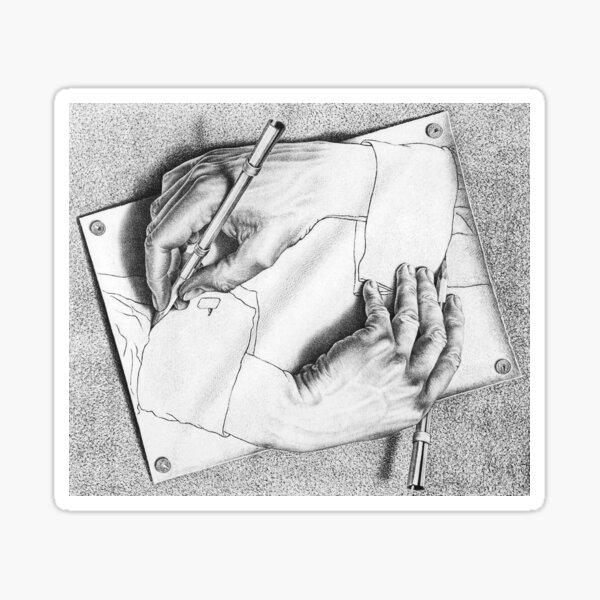 Souvenir from Netherlands - Escher's hands Sticker