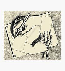 Souvenir from Netherlands - Escher's hands Photographic Print