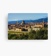 Impressions Of Florence - a View From the Top Canvas Print