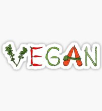 Vegan vegetables drawing color Sticker