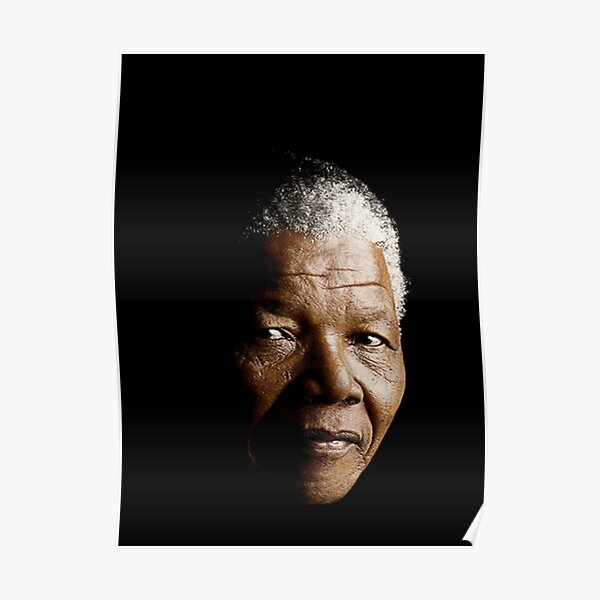 BEAUTIFUL POSTER  PRINT WITH QUOTE NELSON MANDELA LOOKS AWESOME FRAMED