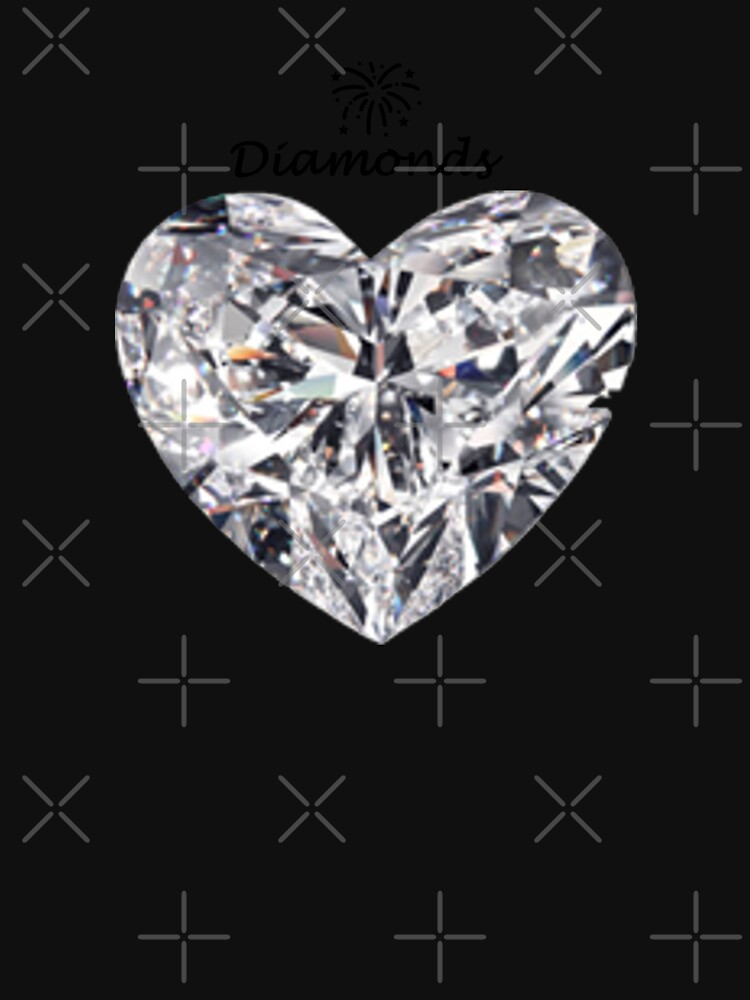 Heart diamond on a white background  by Veee8