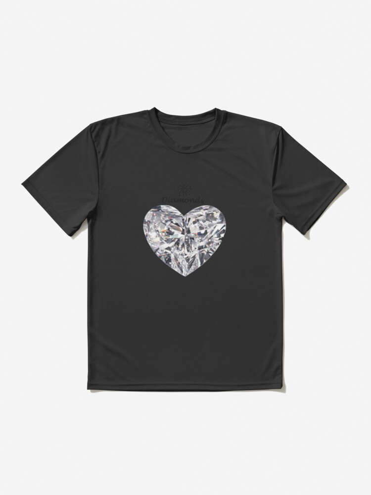 Alternate view of Heart diamond on a white background  Active T-Shirt