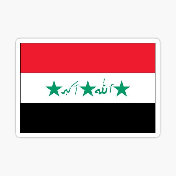 Flag of Iraq (1991–2004) Sticker