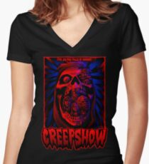 Five Jolting Tales of Horror! Women's Fitted V-Neck T-Shirt