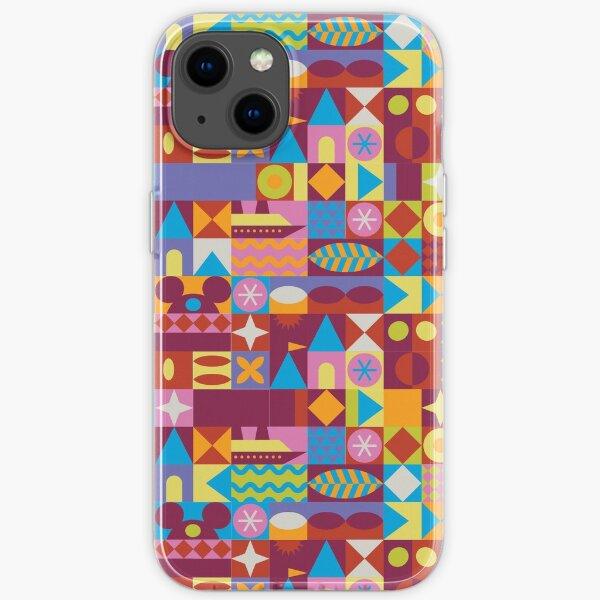 Retro Color Blocks iPhone Soft Case