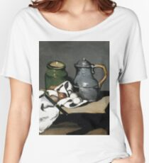 1869 - Paul Cezanne - Still life with kettle Women's Relaxed Fit T-Shirt