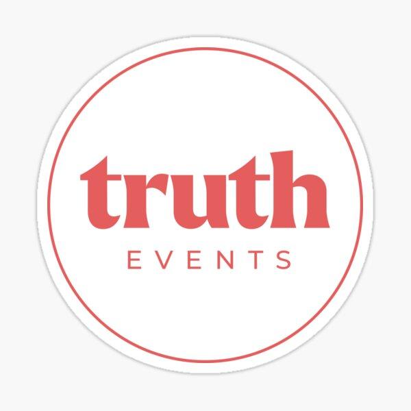 Truth red Sticker
