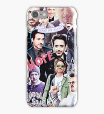 Robert Downey Jr. fangirl edit tumblr collage iPhone Case/Skin