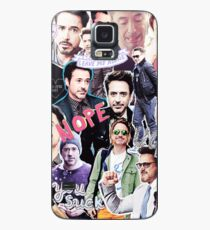 Robert Downey Jr. fangirl edit tumblr collage Case/Skin for Samsung Galaxy