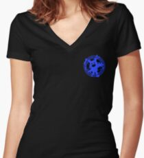 Certified Demon Buster :Jack Frost Version: Women's Fitted V-Neck T-Shirt