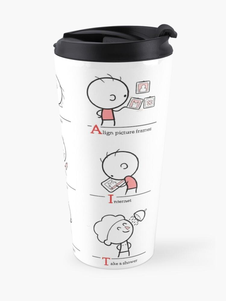Alternate view of Procrastination Travel Mug