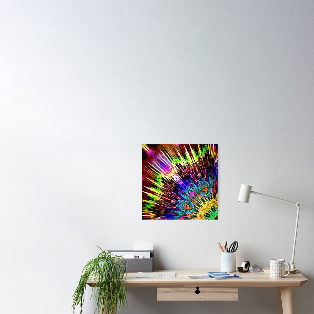 Abstract Array of Color Poster