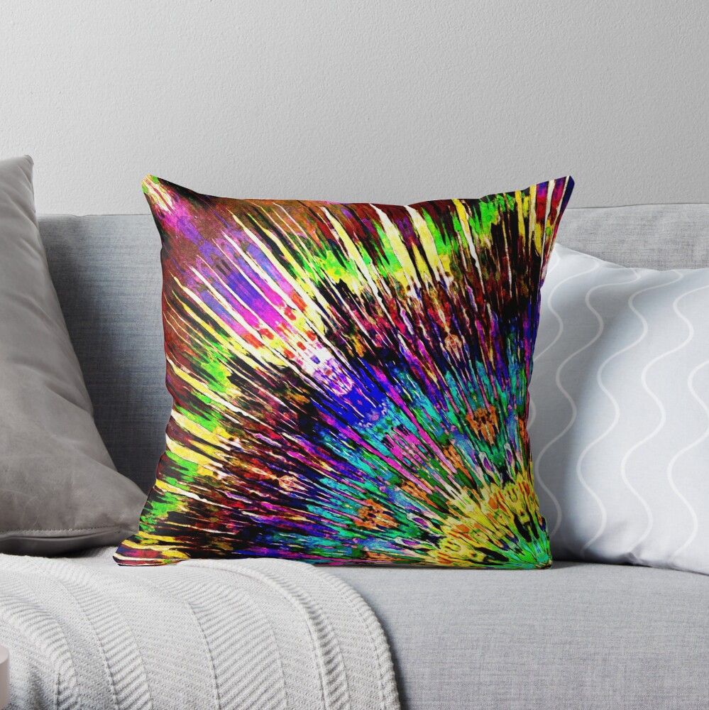 Abstract Array of Color Throw Pillow