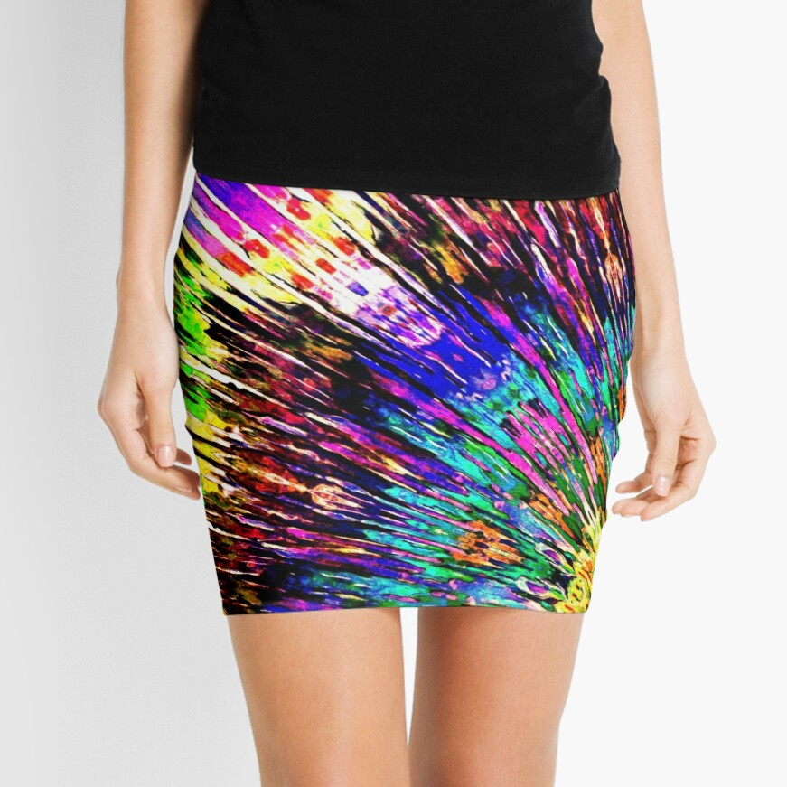 Abstract Array of Color Mini Skirt