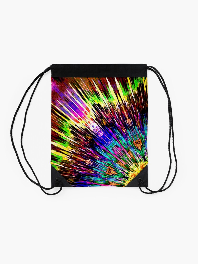 Alternate view of Abstract Array of Color Drawstring Bag