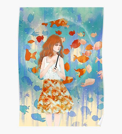 Fish in the rain 魚と雨 Poster