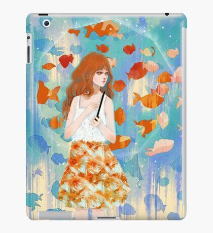 Fish in the rain 魚と雨 iPad Case/Skin
