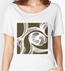 flower #1 in mocha Women's Relaxed Fit T-Shirt