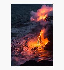 Kilauea Volcano Lava Flow Sea Entry 6 - The Big Island Hawaii Photographic Print