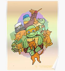 Tmnt Mikey and klunk Poster