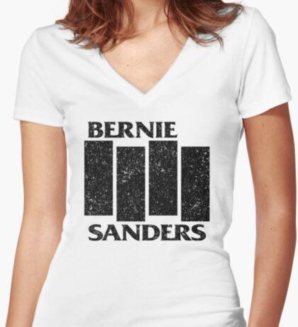 Bernie Flag  Women's Fitted V-Neck T-Shirt