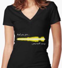 Camiseta entallada de cuello en V Sonido WAV - U2