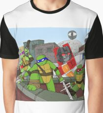 tmnt and transformers Graphic T-Shirt