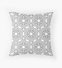 Geometric pattern in white and grey Throw Pillow