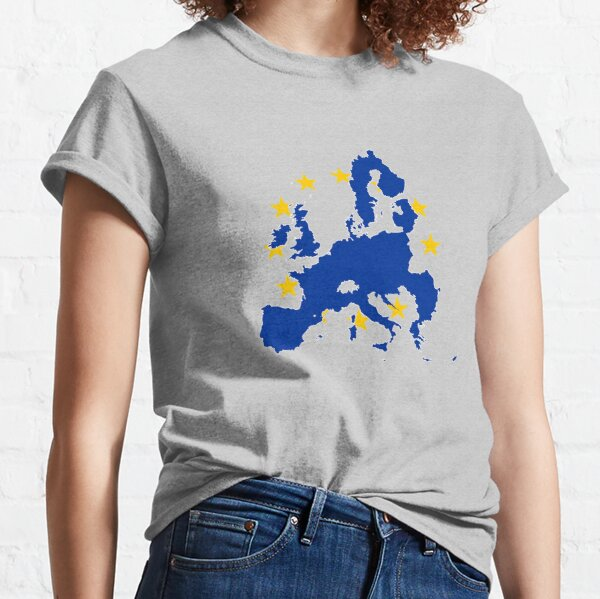 Flag Map of European Union  Classic T-Shirt