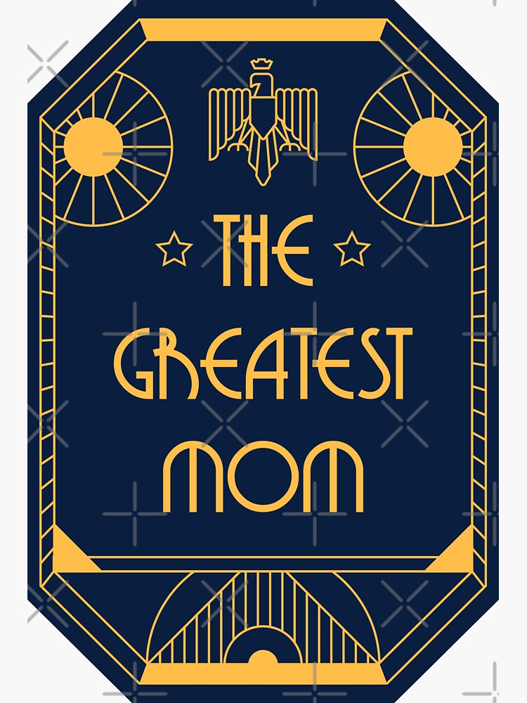 The Greatest Mom - Art Deco Medal of Honor by Millusti
