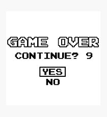 Game Over Geek Gaming Nerd Retro PC NES SNES PlayStation XBOX SEGA Photographic Print