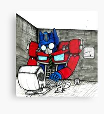 Transformers in the Office Metal Print