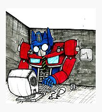 Transformers in the Office Photographic Print