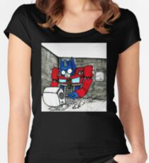 Transformers in the Office Women's Fitted Scoop T-Shirt