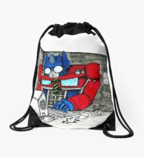 Transformers in the Office Drawstring Bag