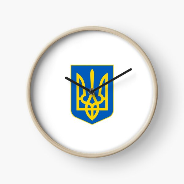 The state coat of arms of Ukraine, officially referred to as the Sign of the Princely State of Vladimir the Great or commonly the Tryzub Clock