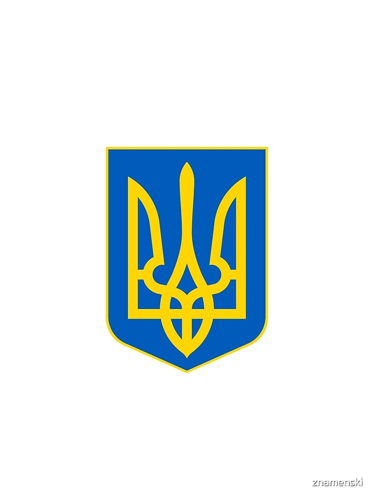 The state coat of arms of Ukraine, officially referred to as the Sign of the Princely State of Vladimir the Great or commonly the Tryzub by znamenski