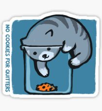 No Cookies For Quitters Sticker
