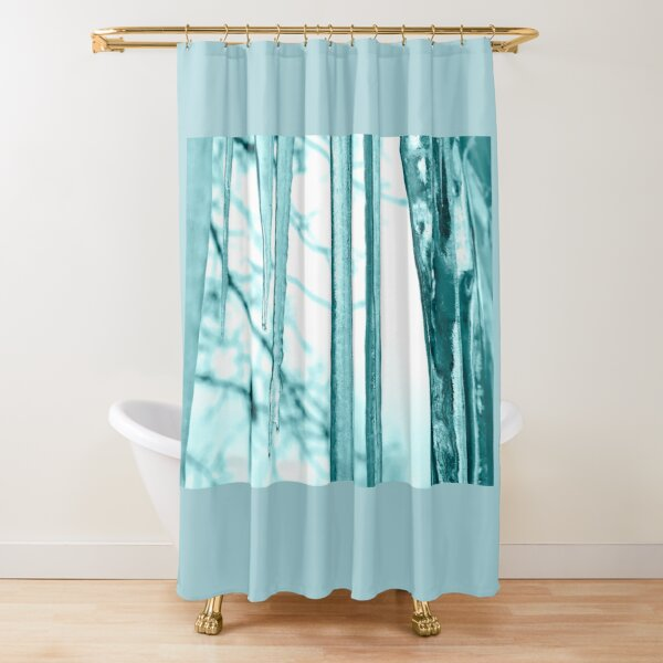 Turquoise Icicles Shower Curtain