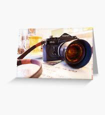 Canon F1-N for Tea Greeting Card