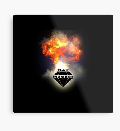 Black Diamond logo Metal Print