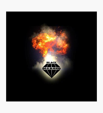 Black Diamond logo Photographic Print