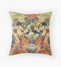 Meowosaurus Throw Pillow